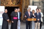 President Piñera lays the first stone in Restoration Project for the Metropolitan Cathedral of Santiago