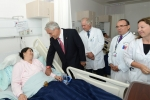 President Piñera inspects the works at the new hospital in Talca