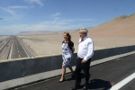 President Piñera visits the construction site of the future highway between Iquique and Diego Aracena Airport