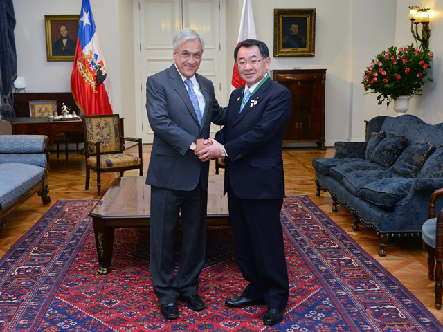 President Piñera meets with president of Chile-Japan Inter-Parliamentary Friendship Group